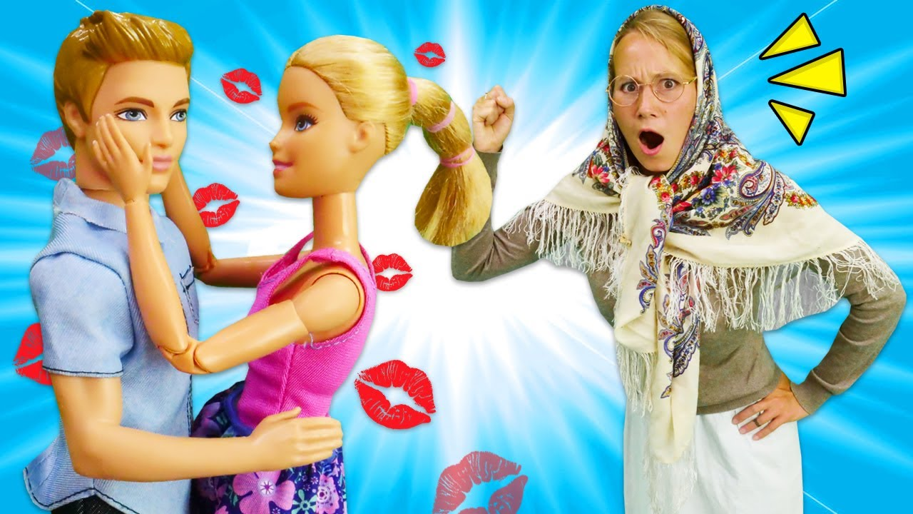 Видео про куклы. Барби и Кен на деревенских танцах. Баба ...