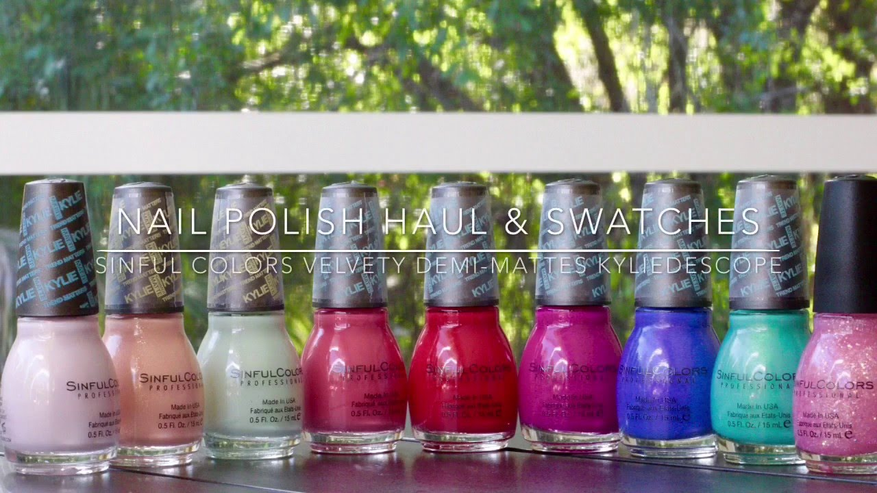 Sinful Colors Velvety Demi-Mattes - Nagellack Haul & Swatches ...