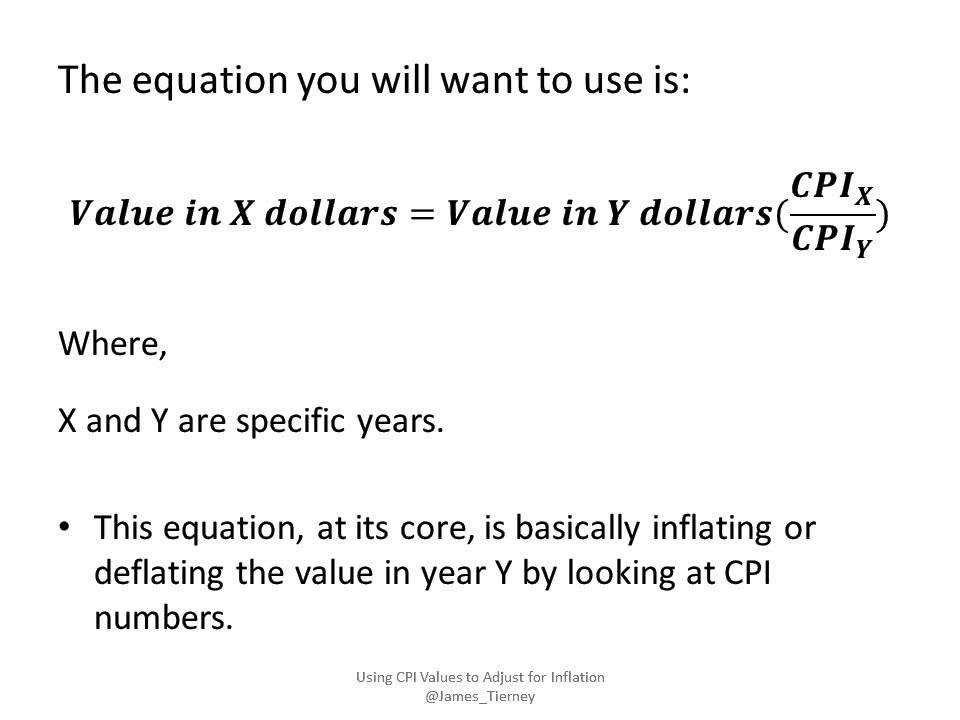 using cpi values to adjust for inflation youtube. Black Bedroom Furniture Sets. Home Design Ideas