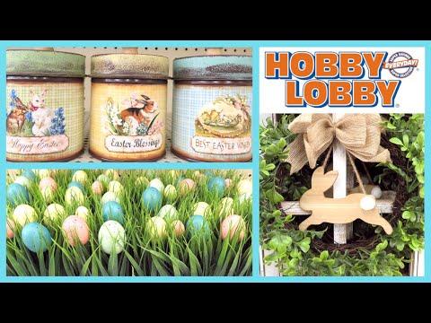 HOBBY LOBBY EASTER DECOR 2019🐰