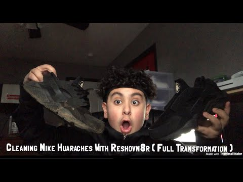 Cleaning Nike Huaraches With Reshoevn8r ( Full Transformation )
