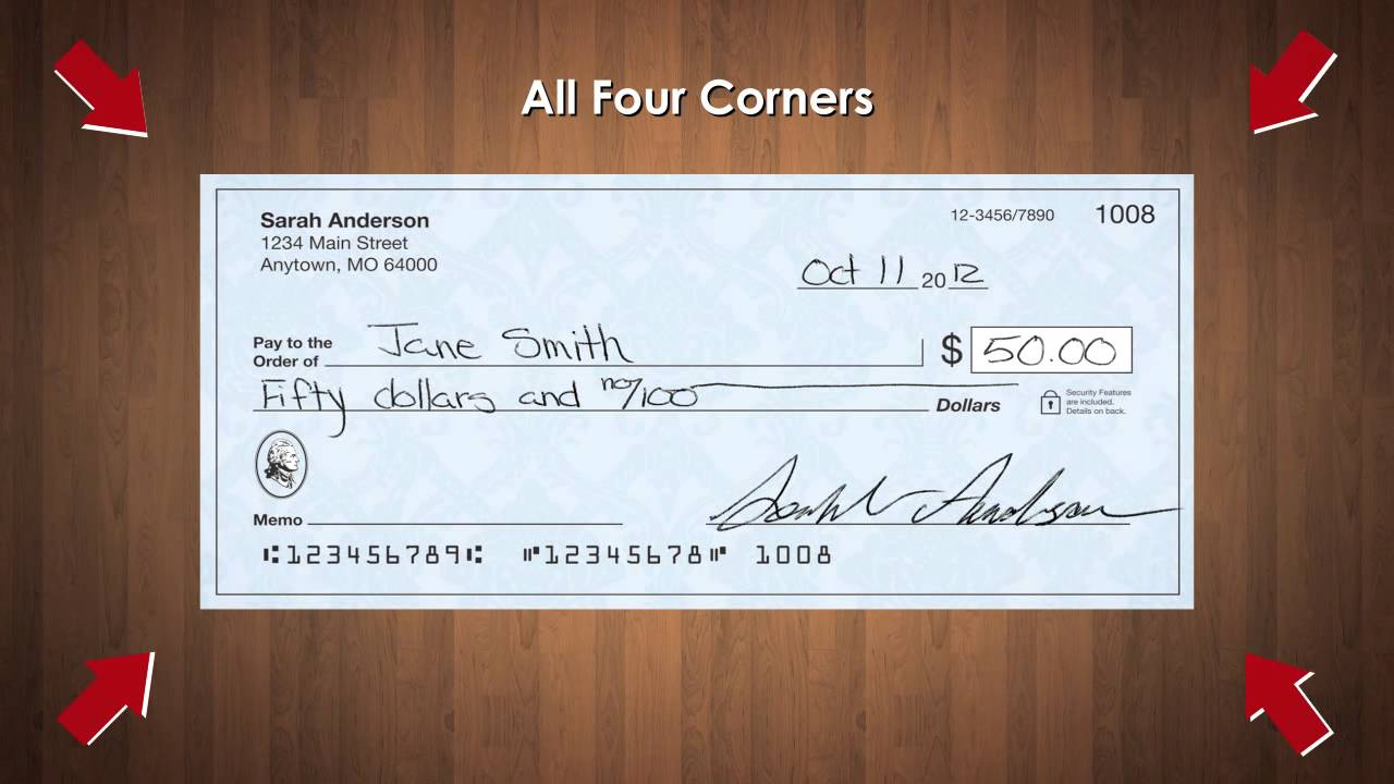 How Do You Write a Check With Some Number of Dollars and Zero Cents?