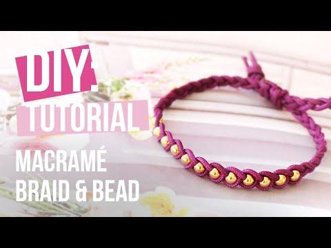 Sieraden maken: Macramé braid & bead ♡ DIY