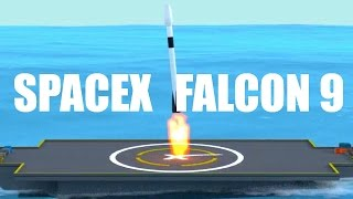 spacex falcon 9 tribute blender 3d animation