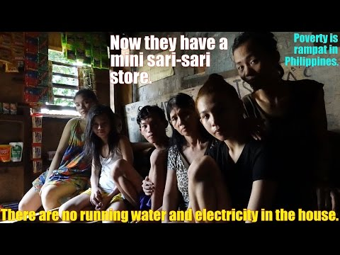 Travel to the Philippines and go to a Slum Area. A Big Family Living Under 1 Roof
