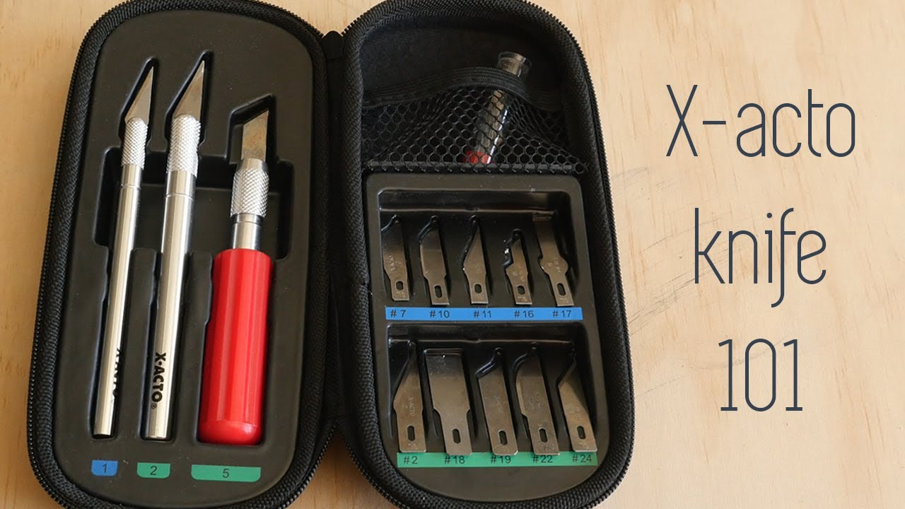 Download X-acto Knife 101 - The Basics - Types of Blades