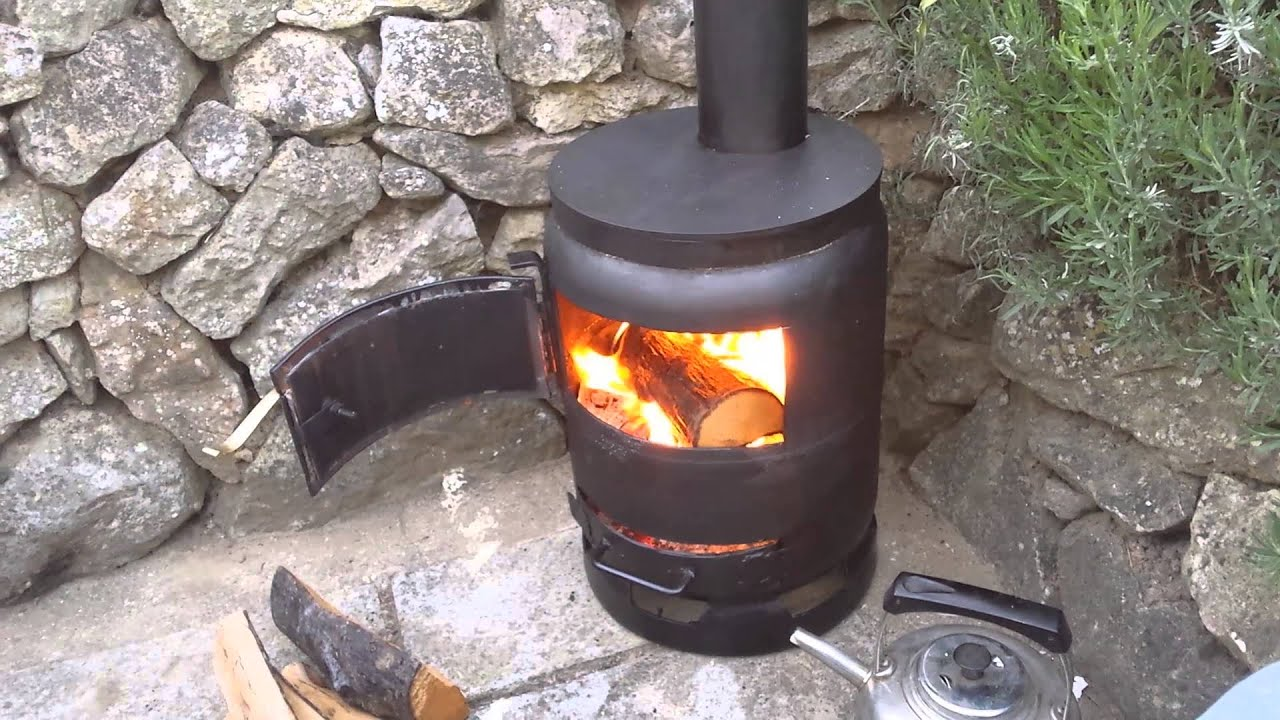 Gas bottle woodburner doovi for How to make a small stove