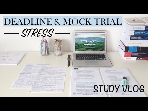 DEADLINE & MOCK TRIAL STRESS - Study Vlog 13