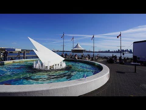 Seabus Trip To Lonsdale Quay, North Vancouver In 4K (UHD Virtual Tour)