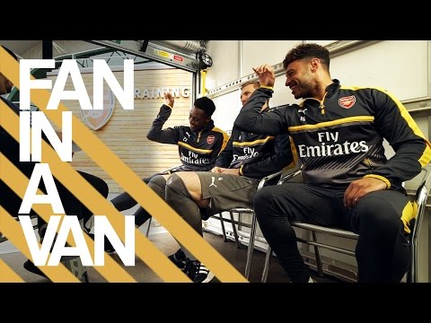 Welbeck & The Ox do Salt Bae! | Fan In A Van