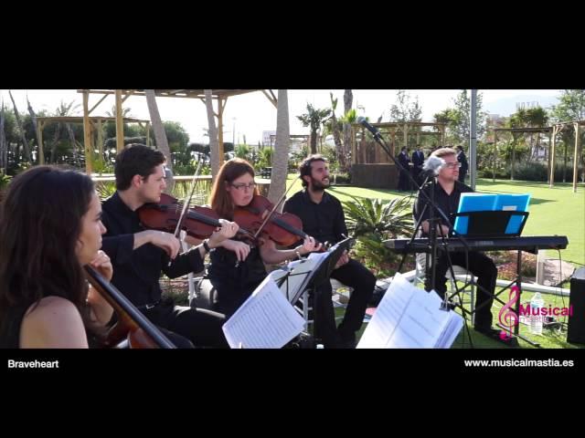 Braveheart piano y trio de cuerda MUSICA BODAS MURCIA MUSICA BODAS ALICANTE MUSICA BODAS ALMERIA