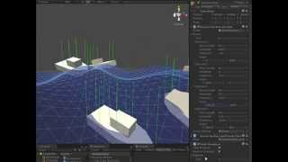 Unity3D - Making Objects Float in an Ocean, and Making Ocean Waves  (long version)