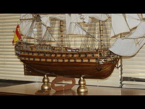 San Juan Nepomuceno model ship from Artesania Latina and cross section (finished)