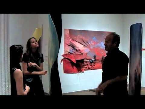 Todd Siler interpreting his artworks at the Ronald Feldman Gallery (6-11-11)