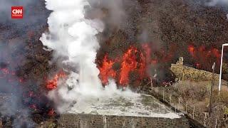Download Drone Aliran Lava Gunung Cumbre Vieja Di Rumah Warga