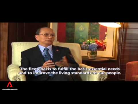 Channel NewsAsia Interview with Thein Sein