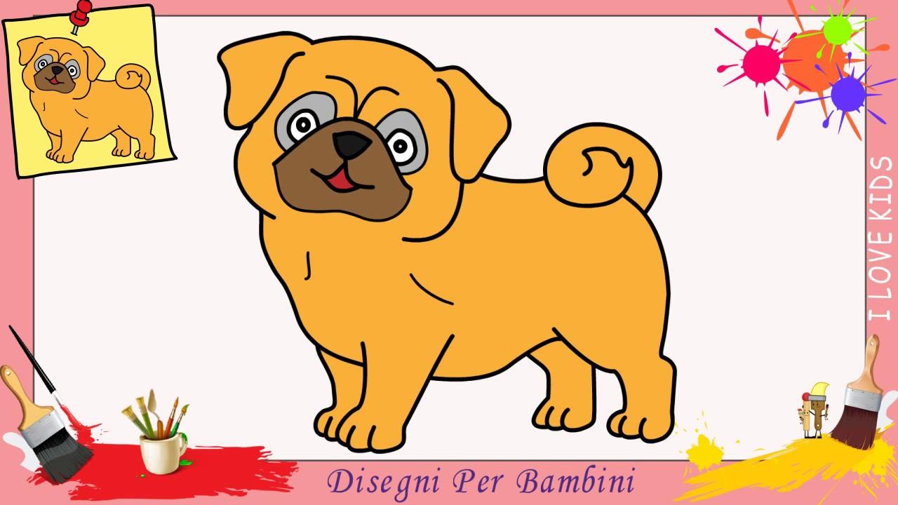 Come Disegnare Un Cane Carlino Facile Passo Per Passo Per Bambini