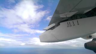 Flaps Lowering - you can see/hear the Drag