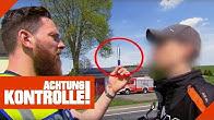 Verdacht auf D*ogenkonsum: Motorradfahrer verweigert Drogentest 1/2   Achtung Kontrolle   Kabel Eins
