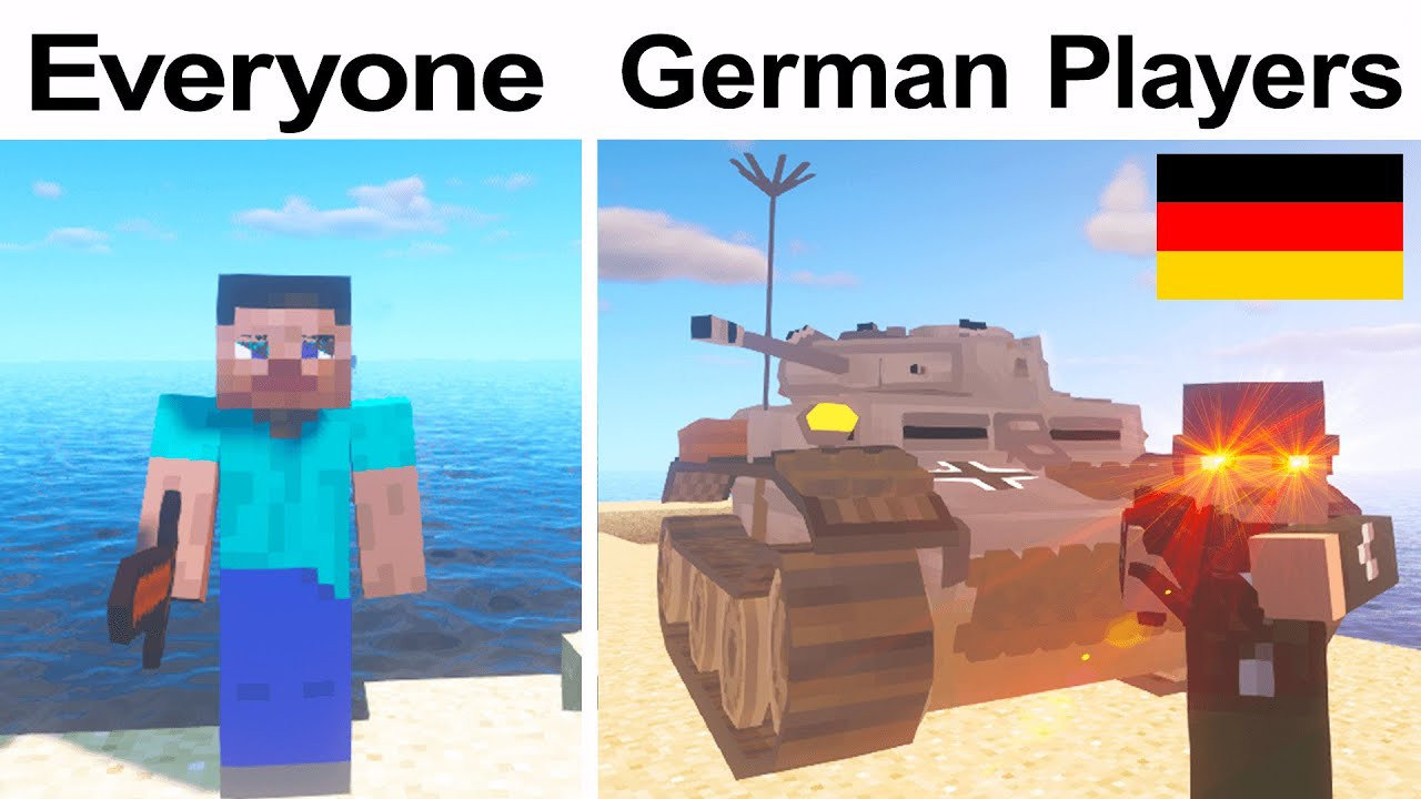 MINECRAFT: GERMAN PLAYERS vs NORMAL PLAYERS