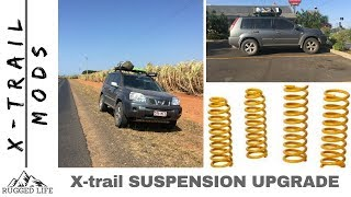 NISSAN X-trail T30 IRONMAN AND KYB EXCEL-G SUSPENSION LIFT - MODs