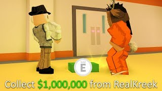 Jailbreak GIVING A FAN $1,000,000!!! (60+ Vault Safes) | Roblox Jailbreak NEW CODES UPDATE SOON!?