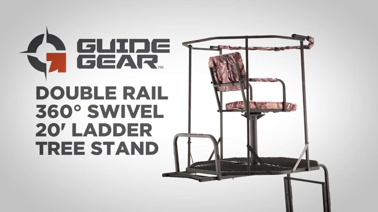 Guide Gear Double Rail 360 176 Swivel 20 Ladder Tree Stand