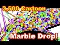 2,500 Colorful Marble Race! Cartoon effect Crazy Marble Run -Artistic style