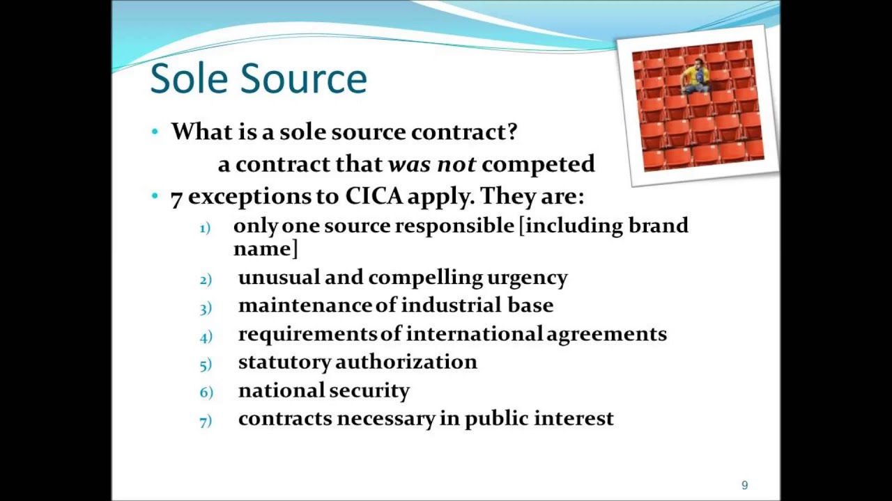 Sole Source and Brand Name Justification - YouTube