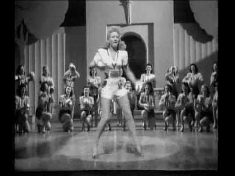 """Betty Grable - Footlight Serenade (1942) - """"I Heard The Birdies Sing"""""""