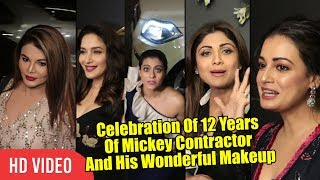 Kajol, Madhuri, Dia, Shilpa And Rakhi At Celebration Of 12 years Of Mickey Wonderful Makeup