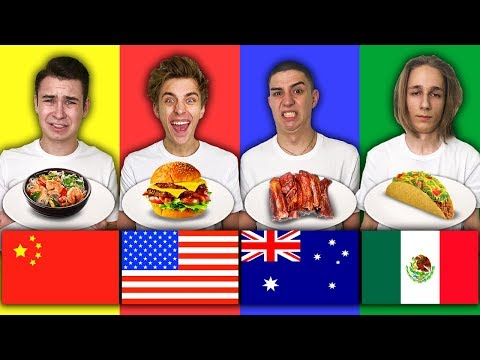 TRYING FOOD FROM ALL AROUND THE WORLD CHALLENGE !