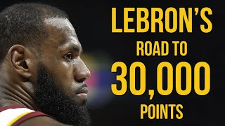LeBron James' road to 30,000 points thumbnail