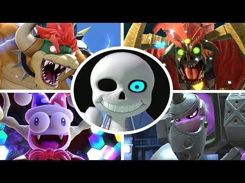 Sans Vs All Bosses In Super Smash Bros Ultimate