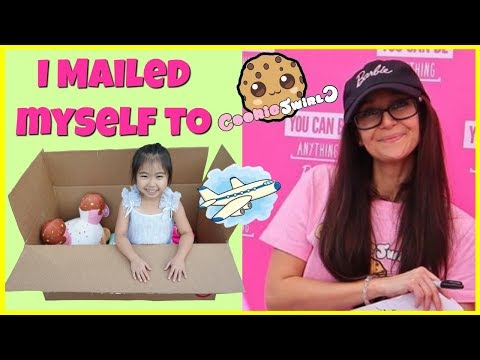 I Mailed Myself To Cookie Swirl C And Got Her Barbie Cookie Swirl C Palyset! Kids Skit, Kids Toys