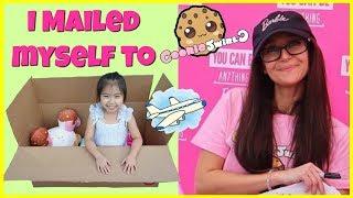 I Mailed Myself to Cookie Swirl C and got her Barbie Cookie Swirl C Palyset! Kids Skit, Kids Toys