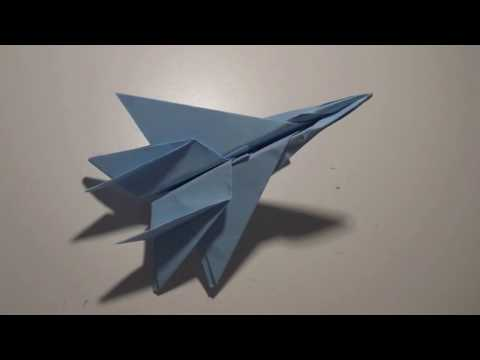 Origami: How to Make a F-15 Paper Airplane