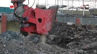 bav cb12 bucket crusher on doosan dx410