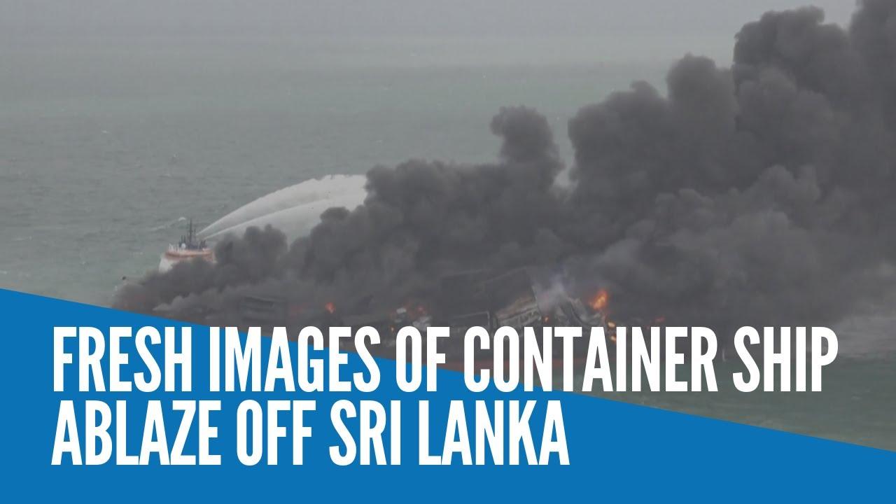 O incêndio a bordo do porta-contêineres de bandeira de Cingapura X-Press Pearl - Sri Lanka