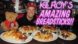 Kilroy&#39s Stuffed Breadsticks Challenge w Mozzarella Cheese &amp Pepperoni!!