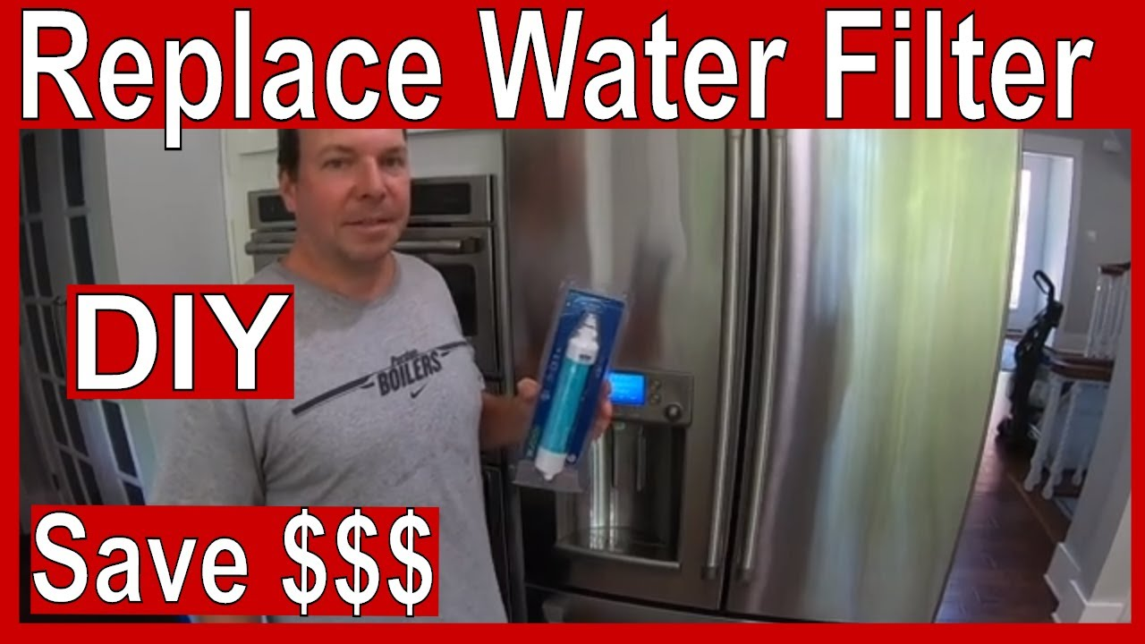How To Replace A Ge Cafe Refrigerator Rpwfe Water Filter Youtube