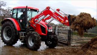 Zetor UK, testing of Forterra 115 with Zetor System loader 260SLi / with The Farmers Guardian