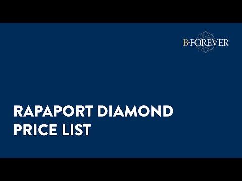 7. Rapaport diamond price list // BForever.net