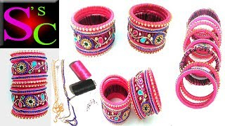 How to Make your own DIY ! bridal chuda from old bangles at home in few  easy and simple steps