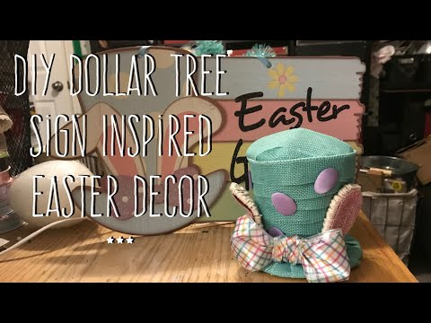 DIY Dollar Tree Sign Inspired Easter Decor
