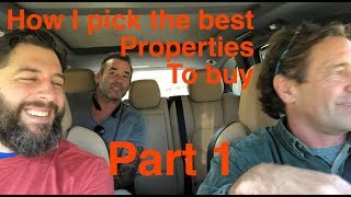 How to pick the best property to buy with Tom. Part 1 of 4  Ride Along :