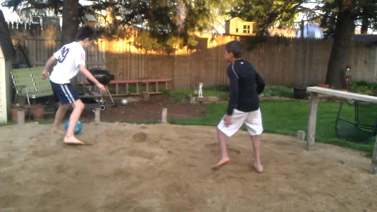 Sand For Backyard backyard sand soccer - youtube