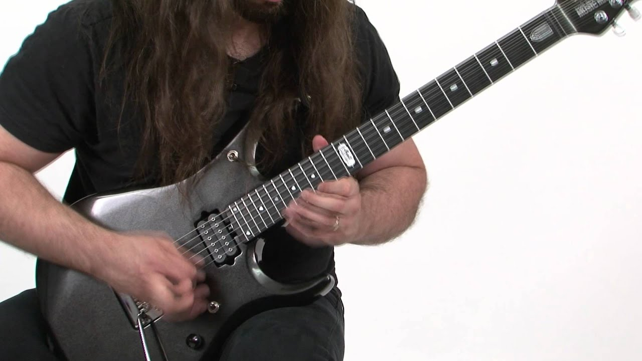 lick of the day john petrucci two notes per string shred youtube