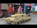 GIANT RC CHALLENGER 1:6 SCALE BATTLE TANKS at BOVINGTON TANK MUSEUM [UltraHD & 4K]