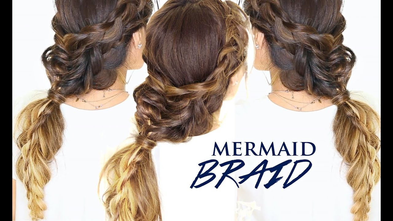 Mermaid Braid Hair Tutorial |👸 Cute Hairstyles for Medium ...
